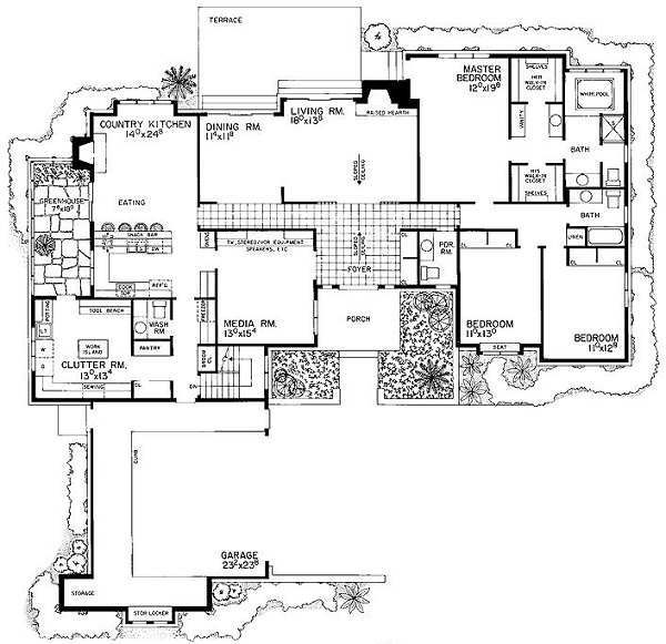 Ranch Style House Plan 3 Beds 2 Baths 2758 Sq Ft Plan 72 483