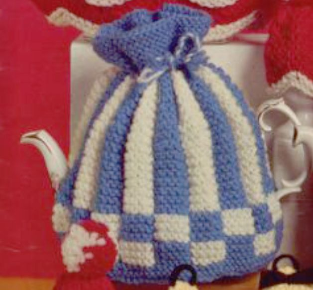 1950s striped checkered tea cozy knitting pattern tea cozy 1950s striped checkered tea cozy knitting pattern dt1010fo