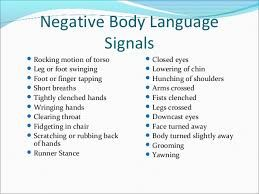 Negative body language examples