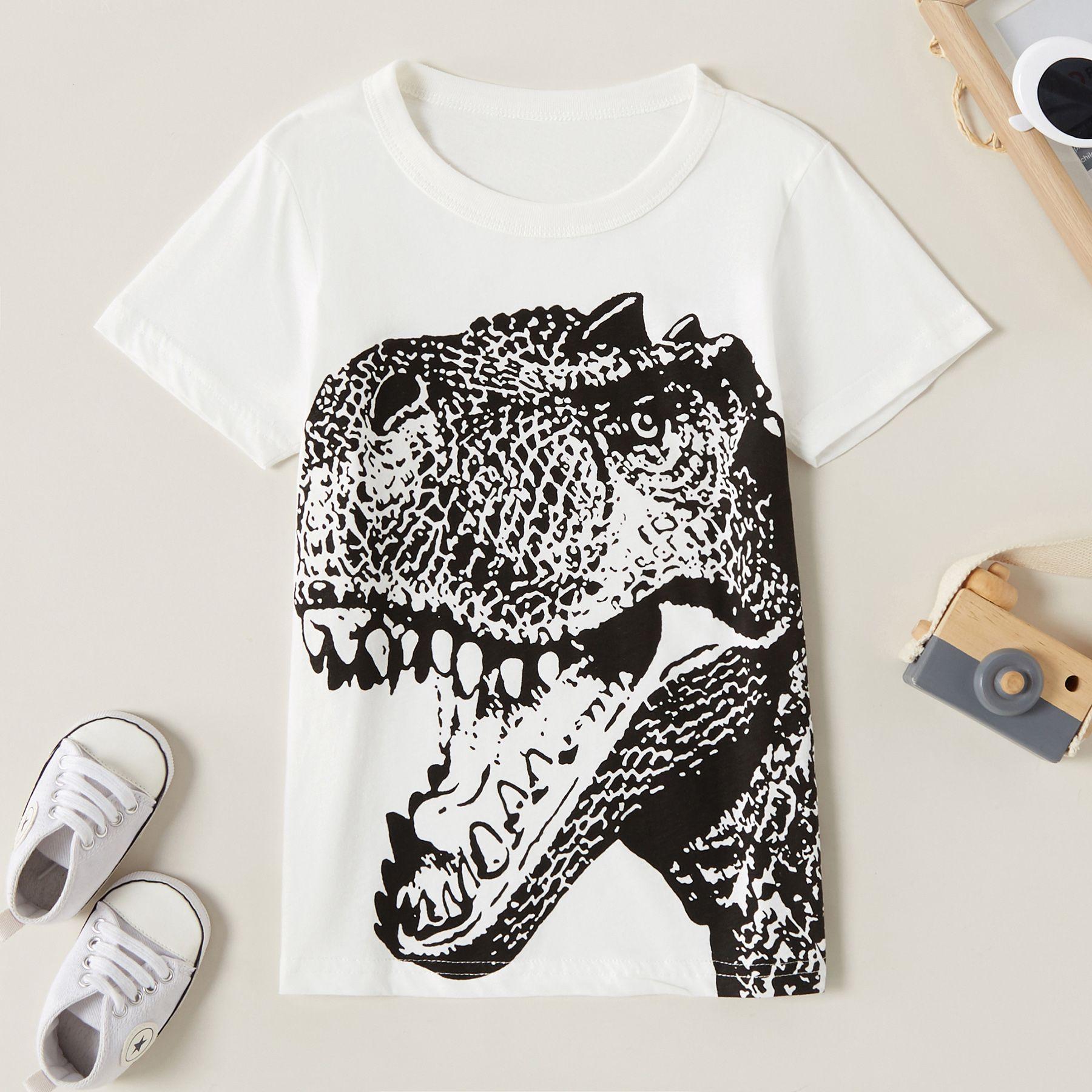 Roar Childrens Summer Short Sleeve Printing T-Shirts