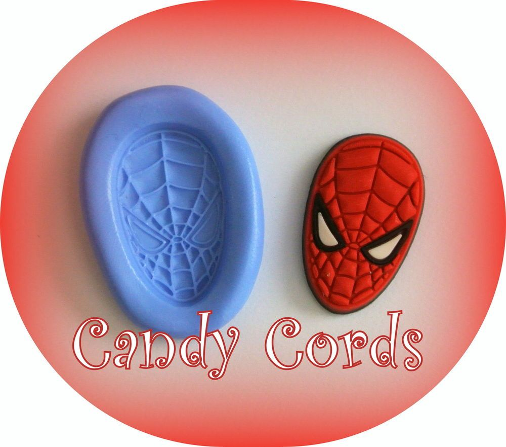 1 Spiderman Marvel Silicone Flexible Moulds Mold Resin Sculpey Cake Chocolate