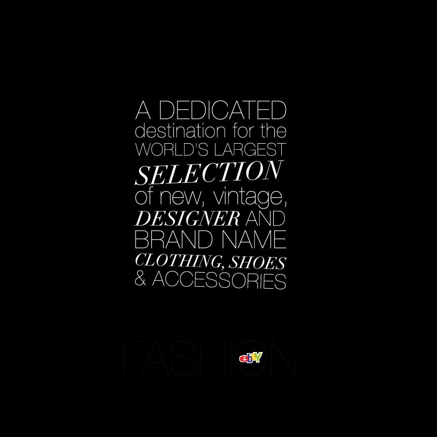 Ebay Fashion Advertising Design Fashion Advertising Strong Typography Brand Name Clothing
