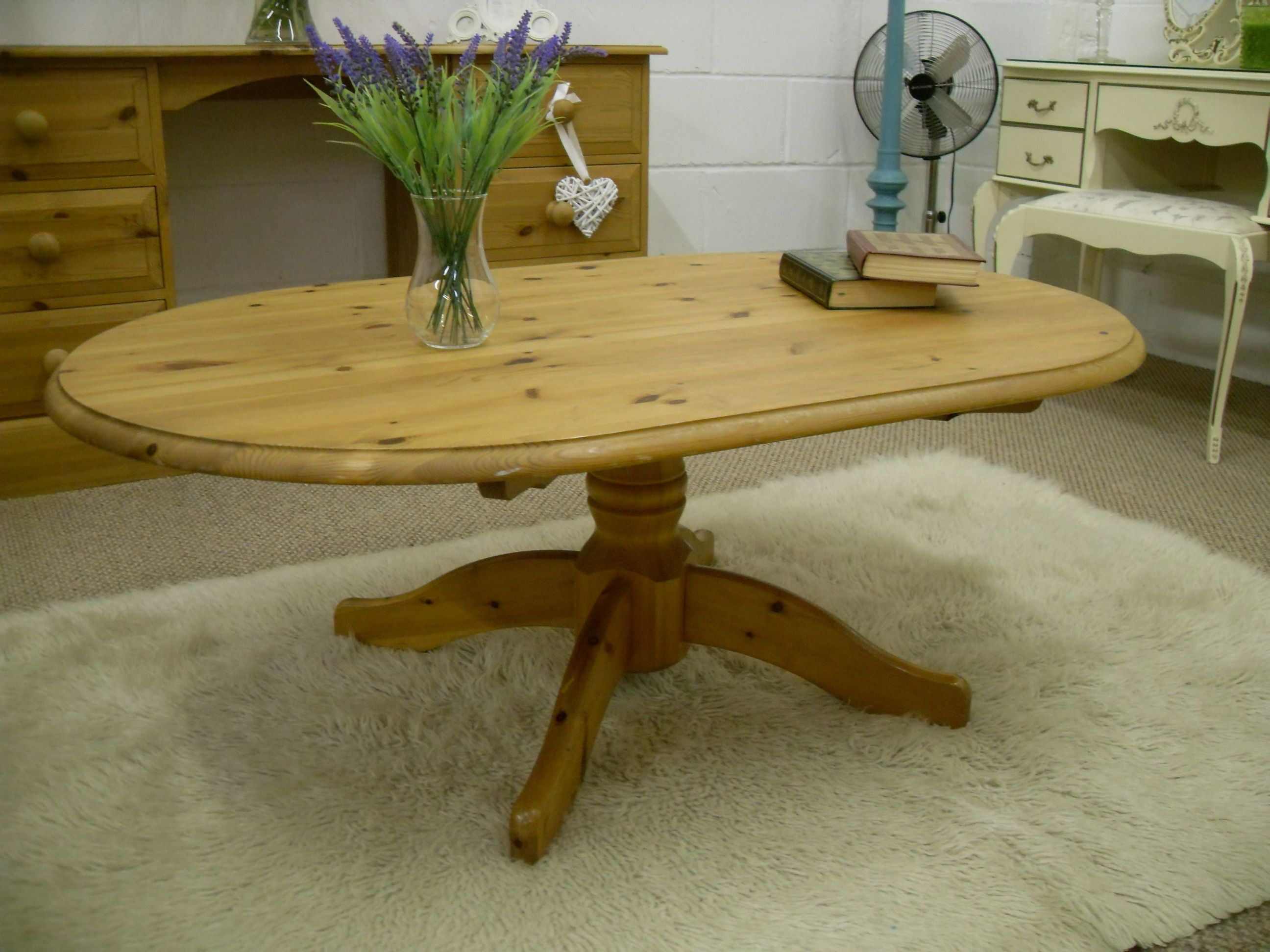 SOLID PINE COFFEE TABLE W 126 D 80 H 45 CM £75