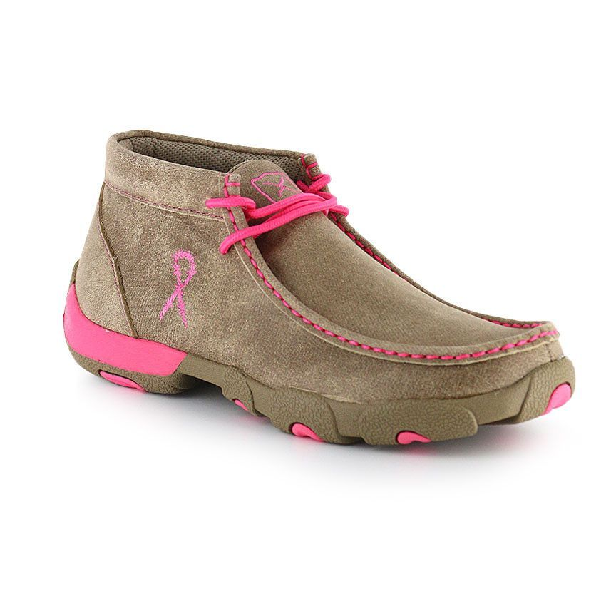 d9bdc1871c77 Twisted X Women's Breast Cancer Awareness Driving Mocs WDM0012 ...
