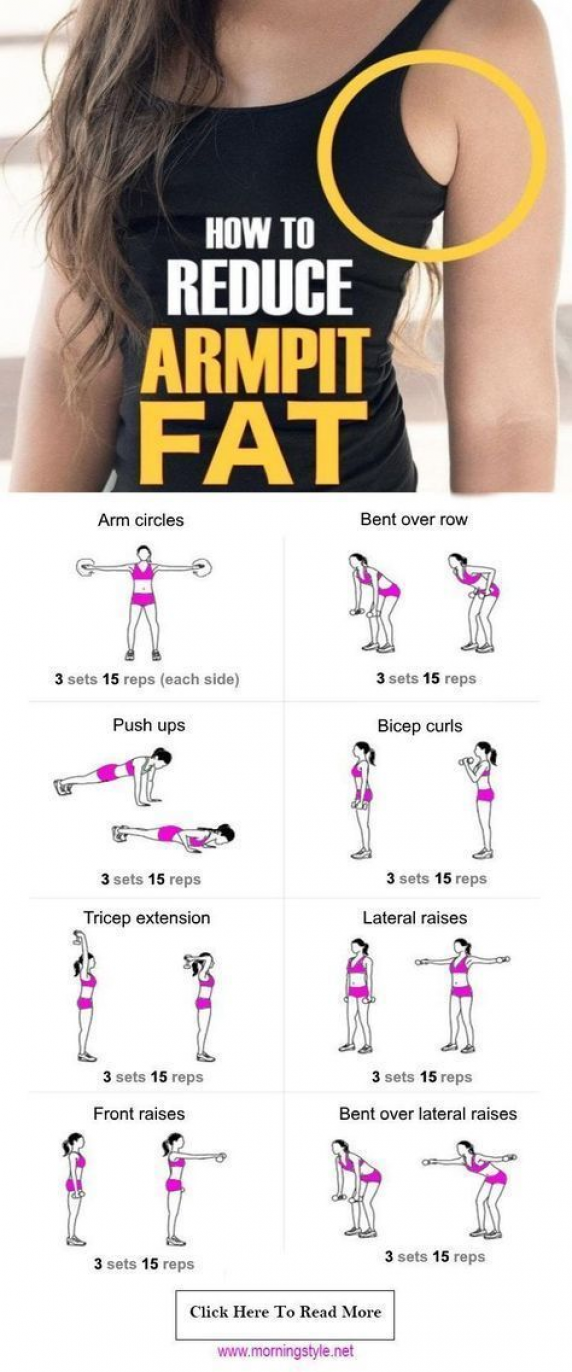 How to Get Rid of Armpit Fat Fast | Healthy Society. armpit fat workout | armpit…