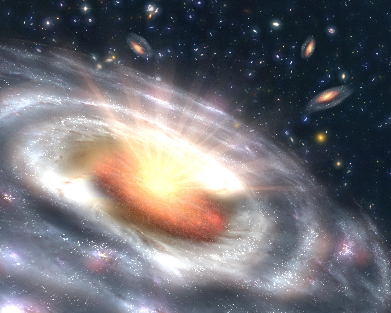 Could The Milky Way Become A Quasar Galaxien Universum Schwarzes Loch