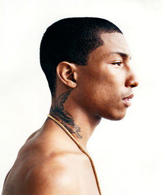 Pharrel i have a thing for guys with neck tattoos l o for Pharrell neck tattoo