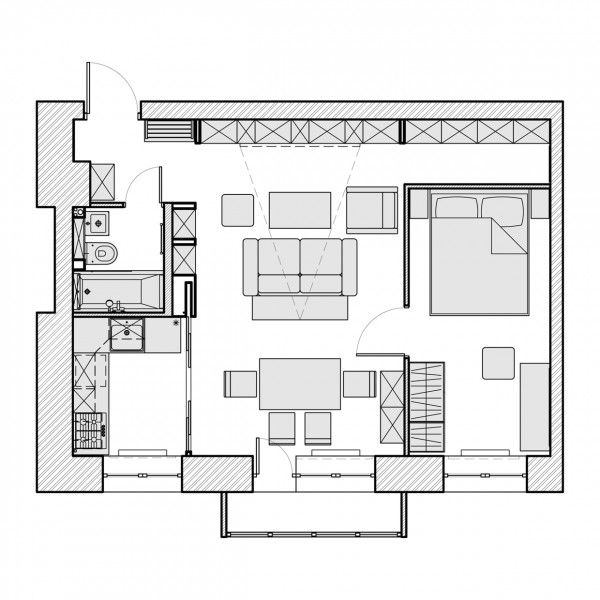 3 beautiful homes under 500 square feet floor plans for Houses under 500 square feet