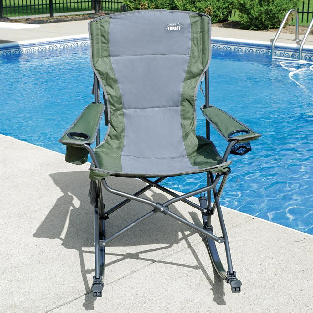 rocking bag chair portable folding chairs camping glamping