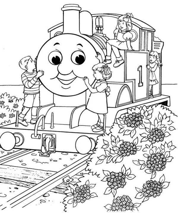 train coloring pages | 40 Free Thomas The Train Coloring Pages ...
