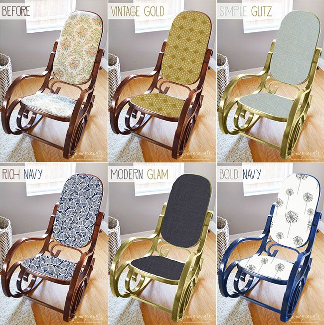 HELP Rocking Chair Makeover Options Poll Via LPH DIY Home Decor - Antique bentwood rocker rocking chair