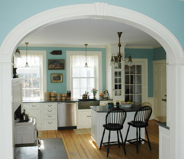 Beautiful Archway Into The Kitchen Nice Wood Floor