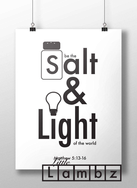 Salt And Light Print Printable Matthew 5 13 16 Ye Are