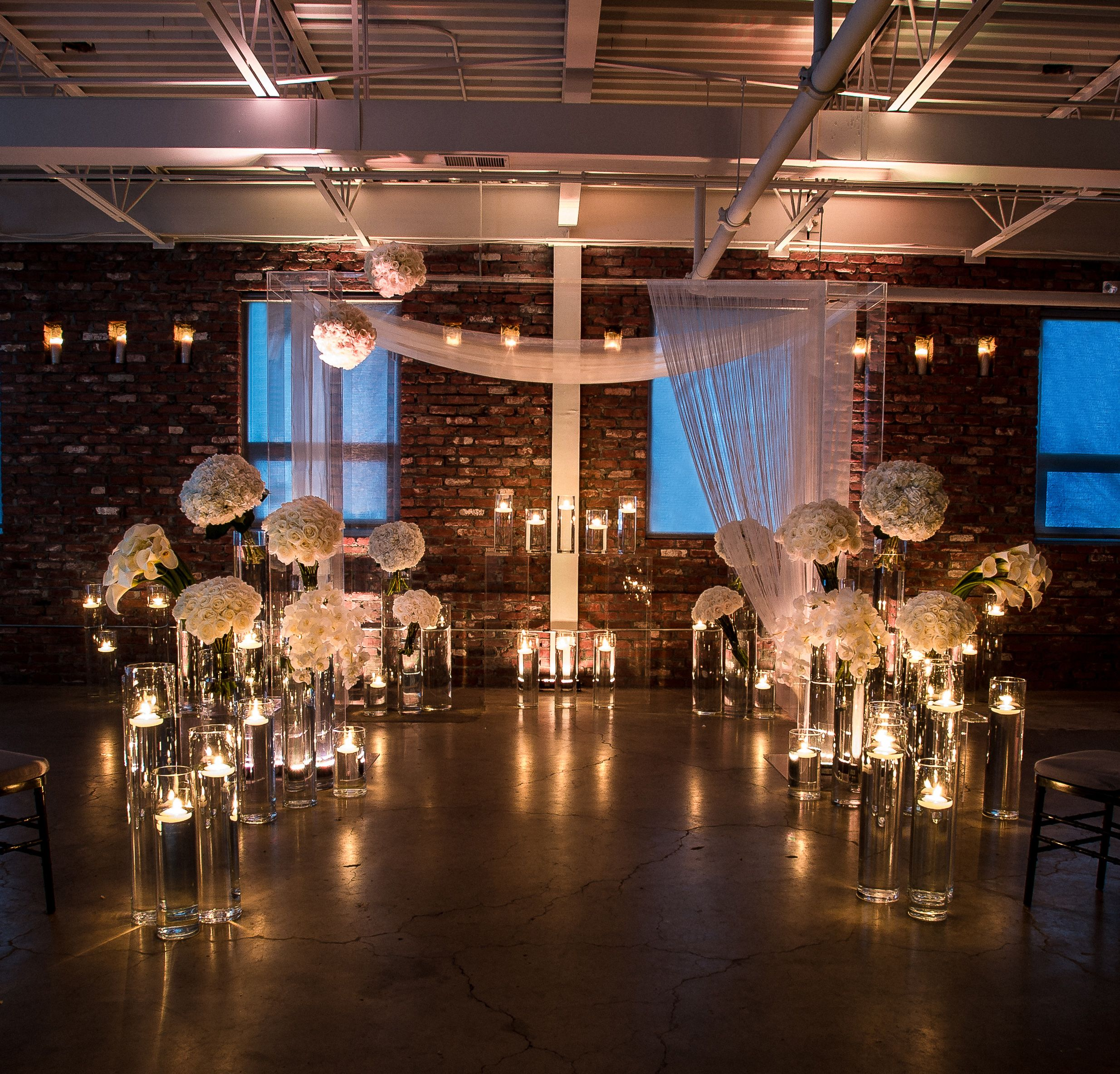 Ceremony The Loading Dock Stamford Ct Uplighting Wedding