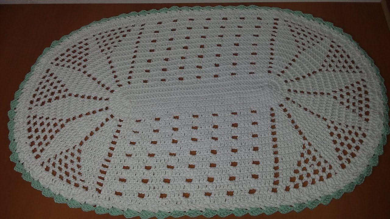 Tapete Oval Simples Aldacilenecroch Croche Pinterest Crochet -> Tapete De Croche Oval Simples Passo A Passo