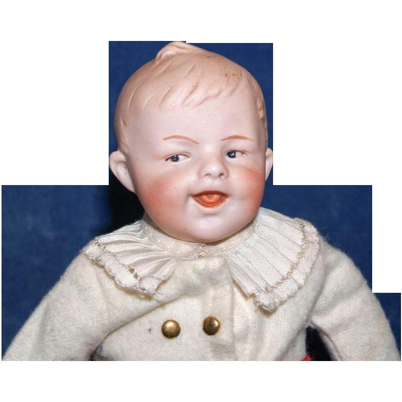 Antique Gebruder Heubach Laughing Character Boy Doll Boy Doll Vintage Dolls Male Doll