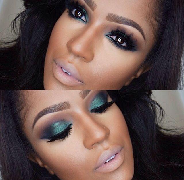 Green Smokey Eye Dark Skin Makeup Skin Makeup Teal Makeup