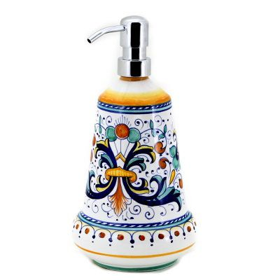 Ricco Deruta Liquid Soap Lotion Dispenser Large 26 Oz
