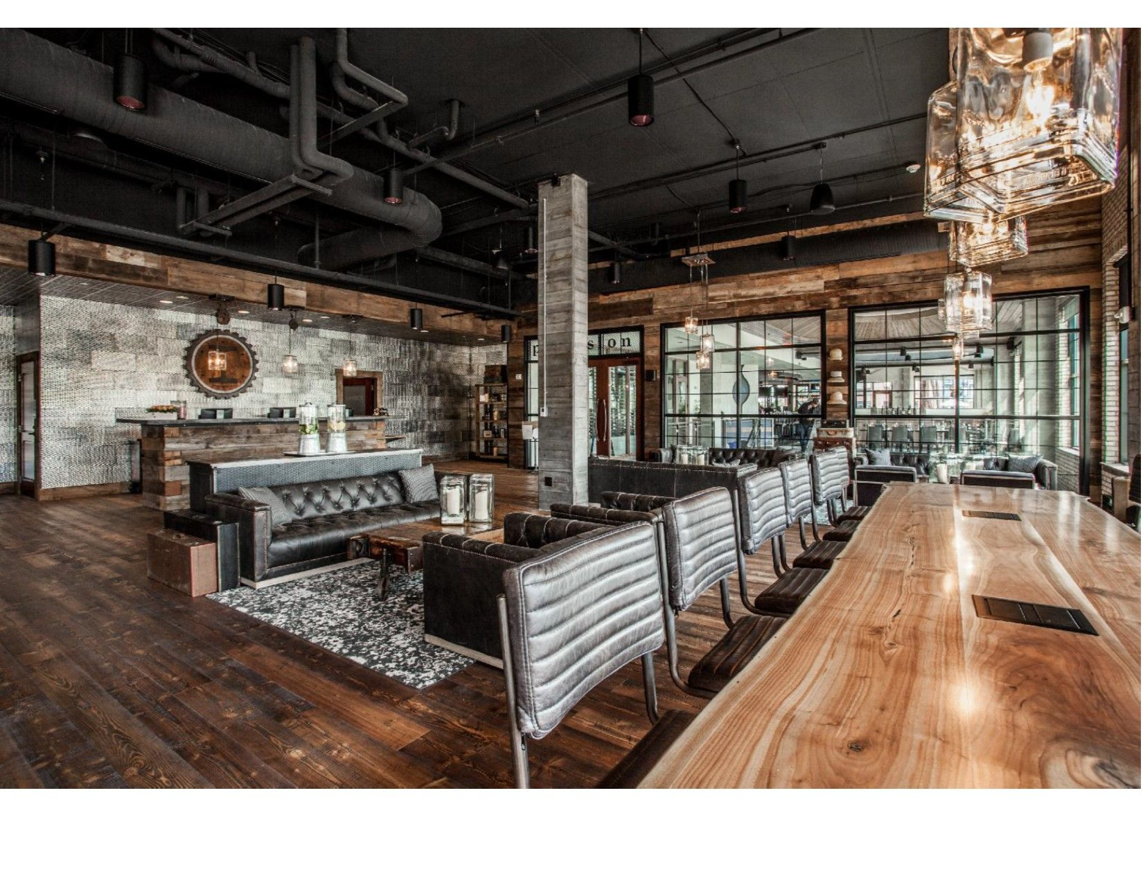 Here S Another Picture From The Ironworks Hotel In Beloit Wisconsin Featured Throughout Is Our Mountain Collection Douglas Fir Flooring