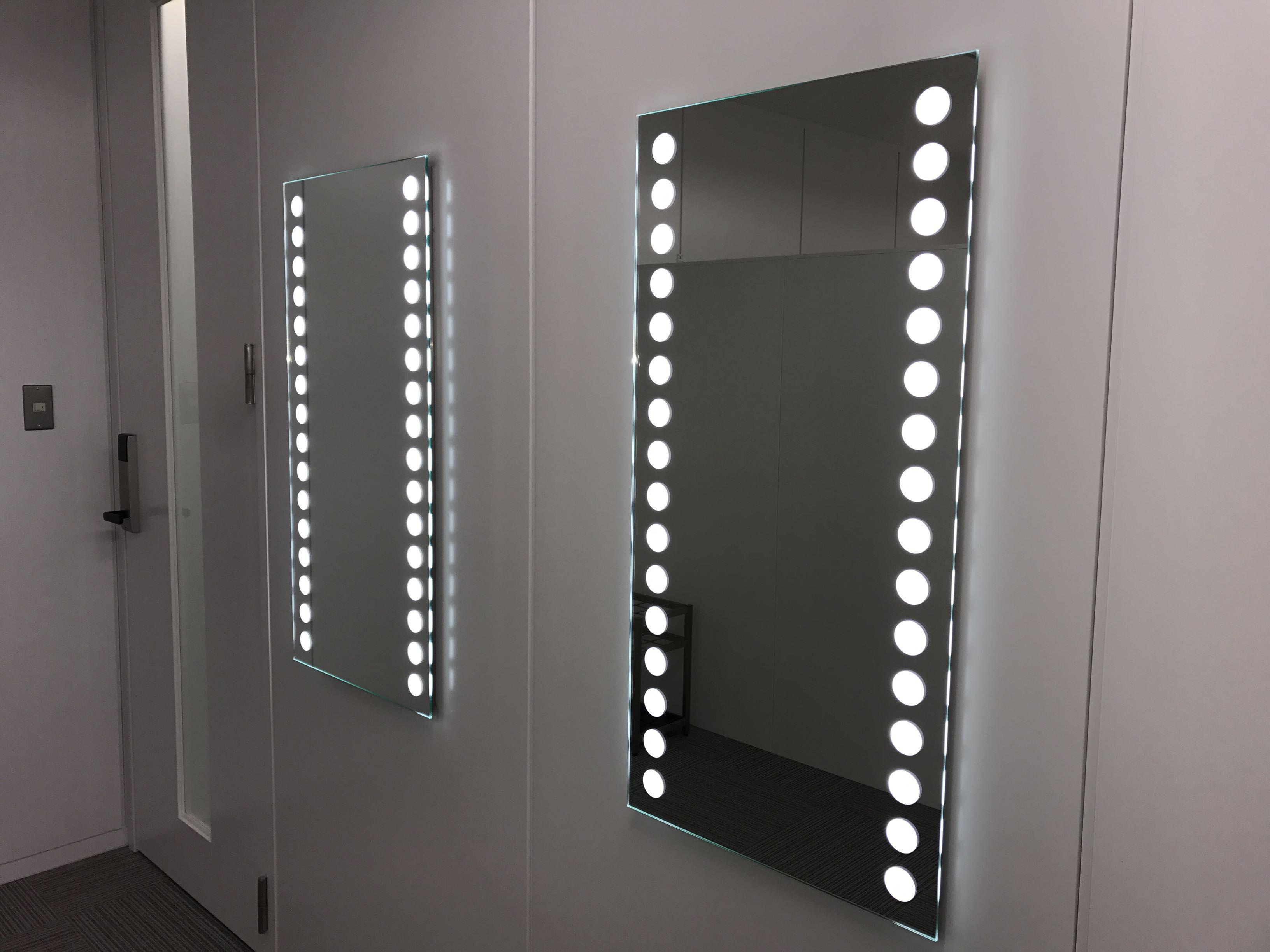 鏡照明 Led フレーム無し サークルタイプ 照明付きミラー ライト付きミラー ハリウッドミラー 鏡照明 Led