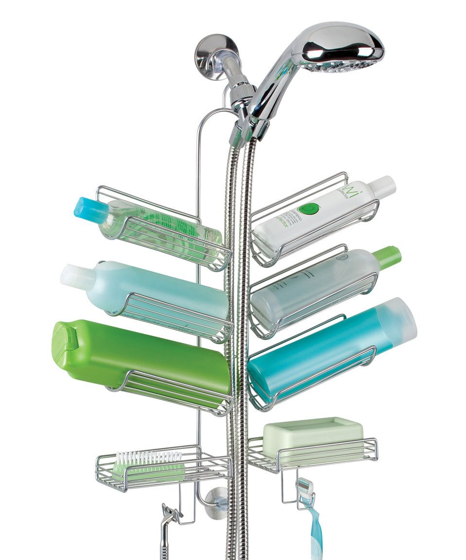 Take a look at this Silver Eight-Shelf Verona Hanging Shower Caddy ...