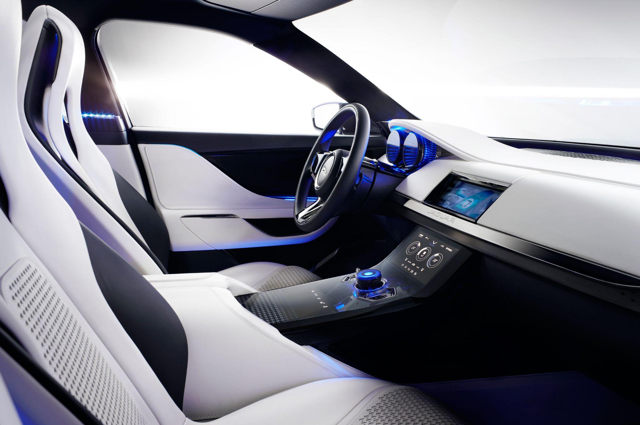 Interior Frankfurt jaguar c x17 crossover concept interior dash car ui