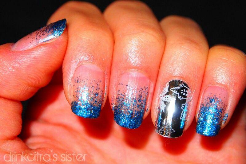 Uñas metálicas para navidad! | Christmas nails | Pinterest