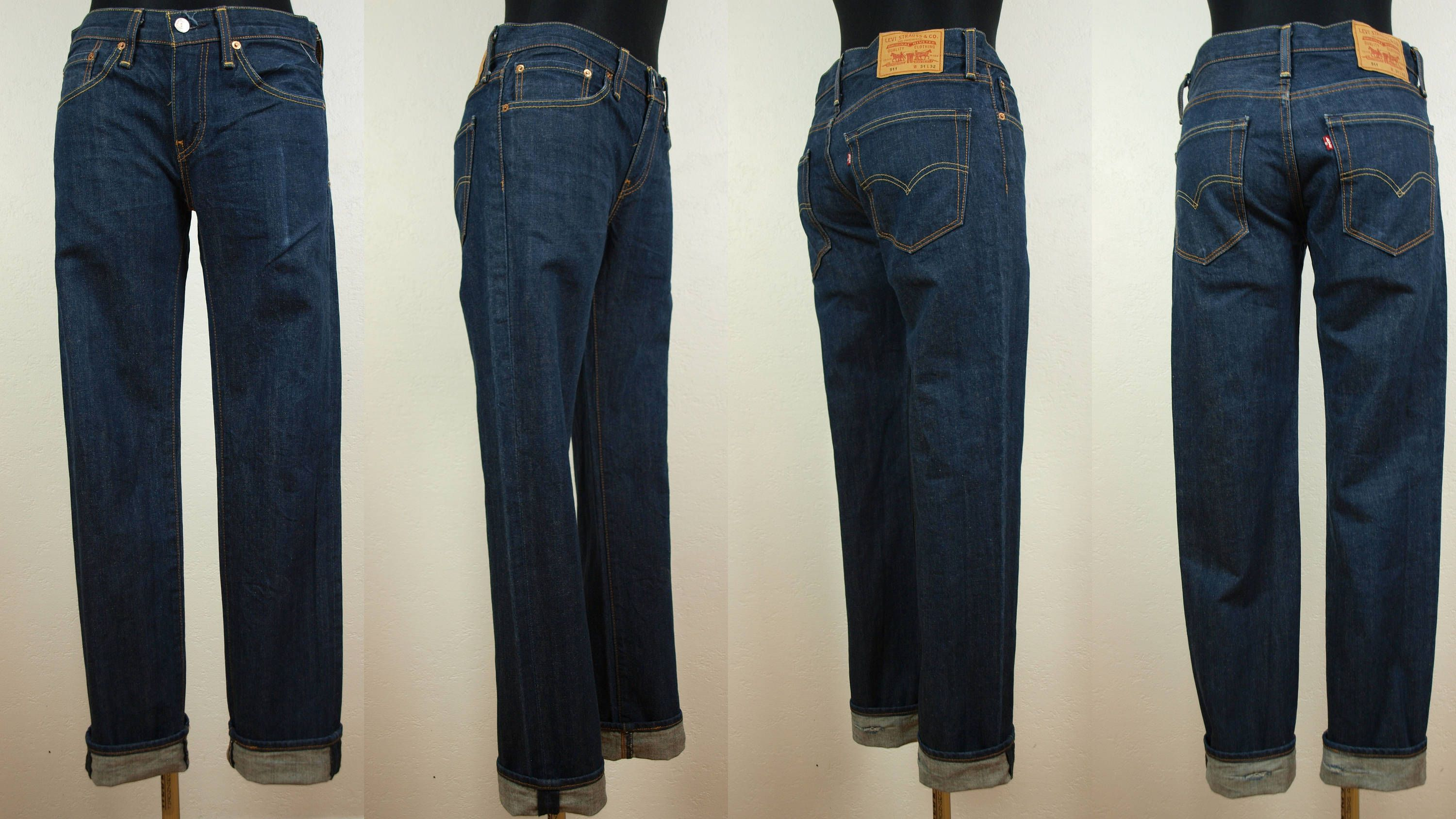 0ff62b76957 Levis 511, Dark blue Levis jeans, Size W31 L32 100% Cotton Made in Pakistan  classic waste Levis, straight leg Levis zipper fly by SillyPurpleZephyre on  Etsy