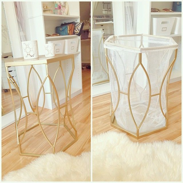Laundry Bag Target Spray Painted Target End Table With Goldflipped It Upside Down
