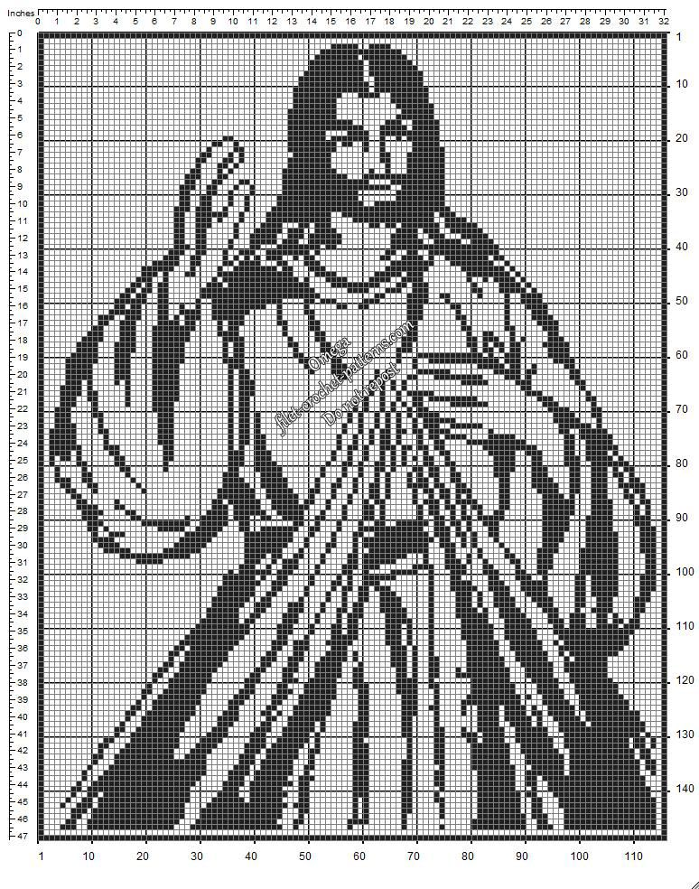 Divine mercy image free crochet filet pattern diagram filet divine mercy image free crochet filet pattern diagram ccuart Images