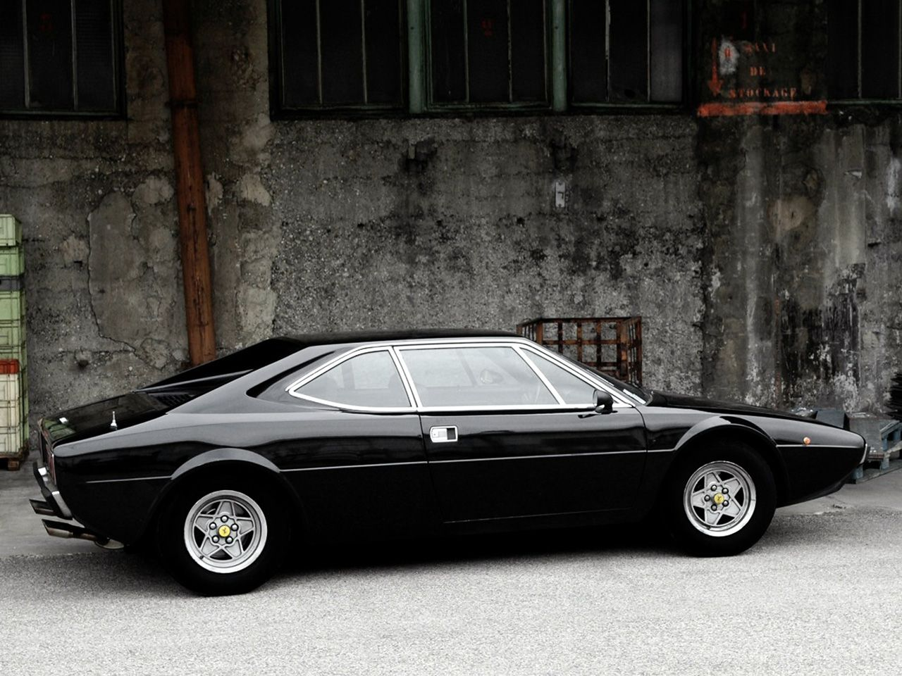 Black Ferrari Dino 308 Not Really A Ferrari So It Can Go On