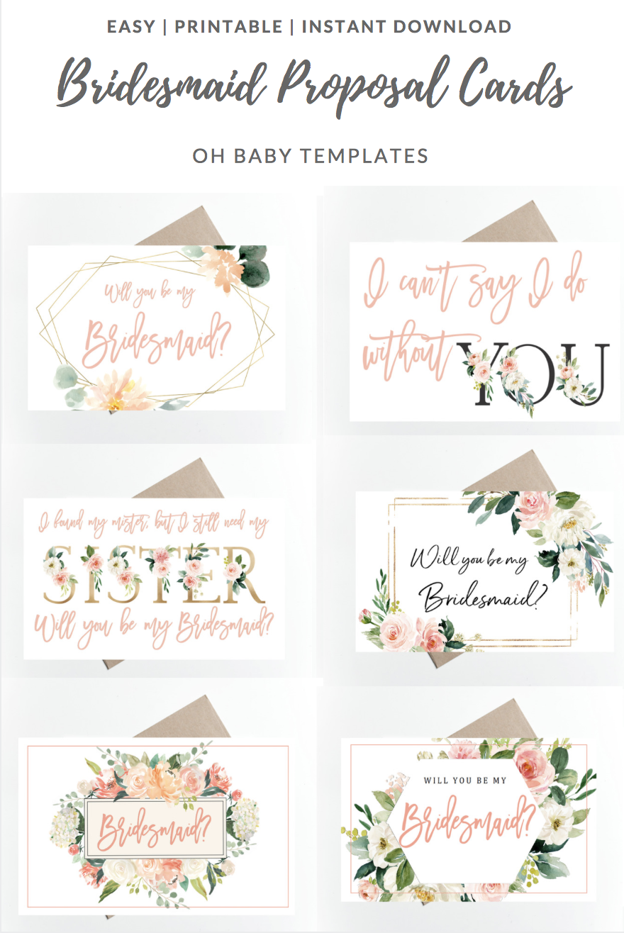 photo regarding Bridesmaid Proposal Printable titled Inquire Bridesmaid Bridesmaid Proposal Packing containers // Printable