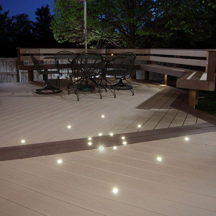 Dek Dots Outdoor Led Recessed Lighting Kit Flush Mount Led Recessed Lighting Recessed Lighting Paver Lights