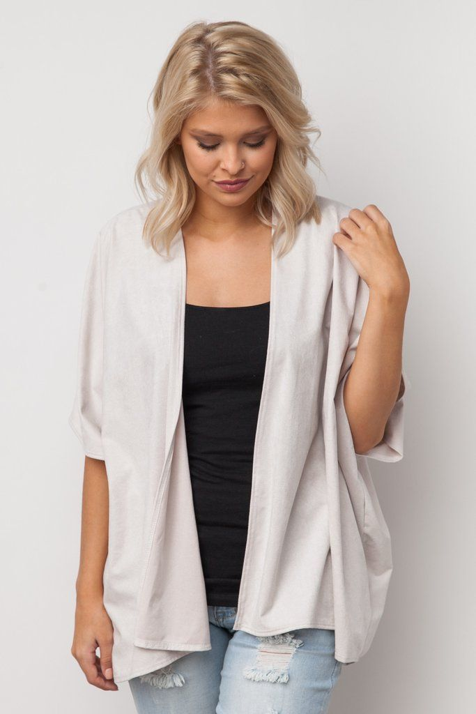 Suede For Me Kimono in Ivory