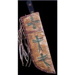 Cheyenne Parfleche Midi Horned Fig Sheath & Knife