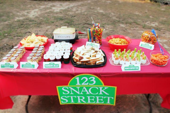 Sesame Street Birthday Party Food Table