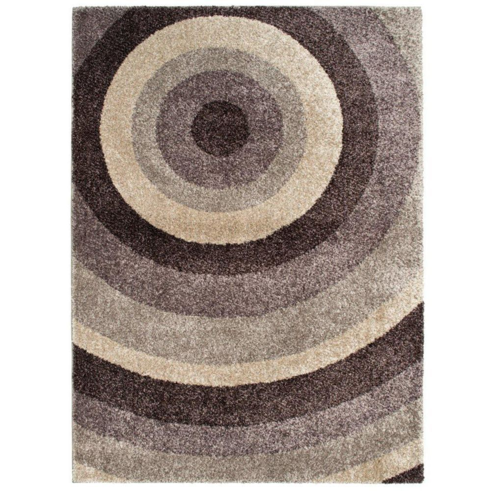 Ringmaster Grey 7 Ft 10 Inch X 10 Ft Indoor Contemporary Rectangular Area Rug Orian Rugs Area Rugs Rugs