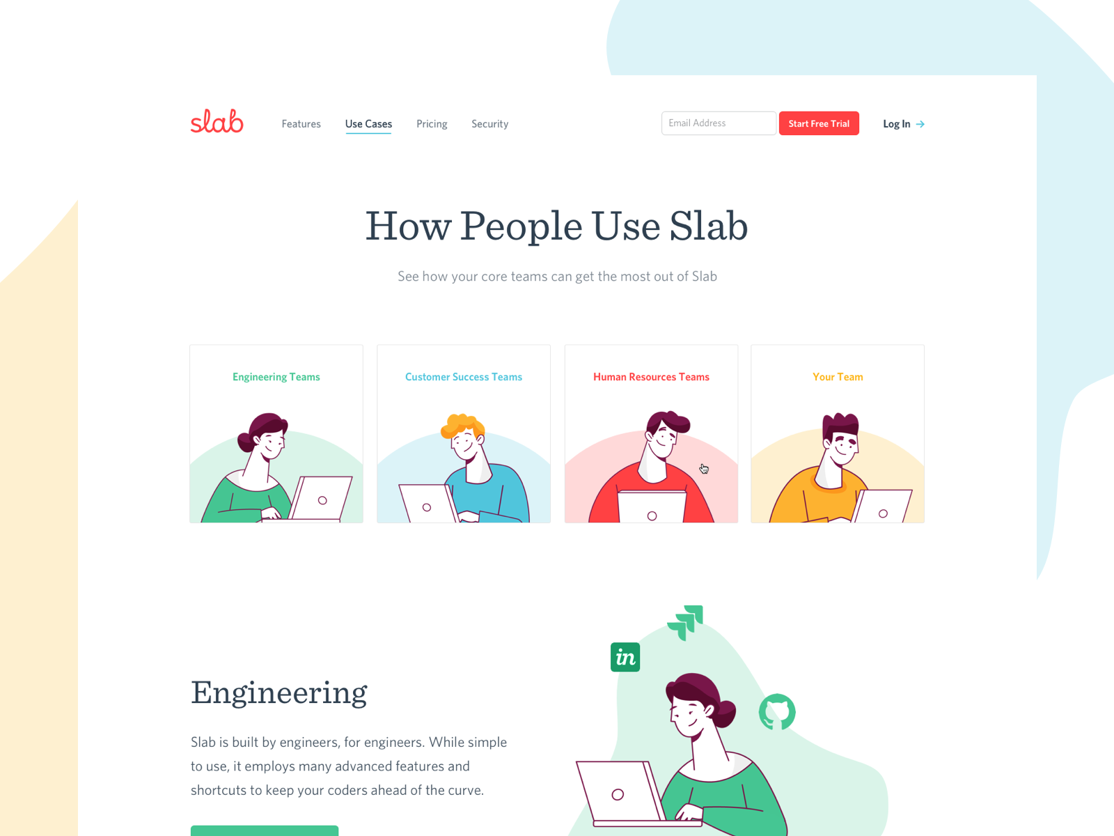 Slab Use Cases Designed By Jt Grauke For Focus Lab Connect With Them On Dribbble The Global Community For D Web Layout Design Use Case Web Development Design