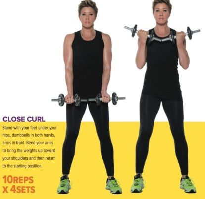 the only 8 moves you need for strong  toned arms  arm