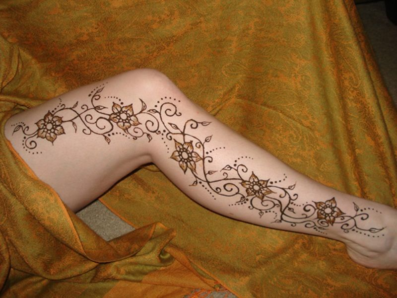 Floral Indian Henna Designs For Leg  Henna Tattoos  Pinterest  Henna Hen