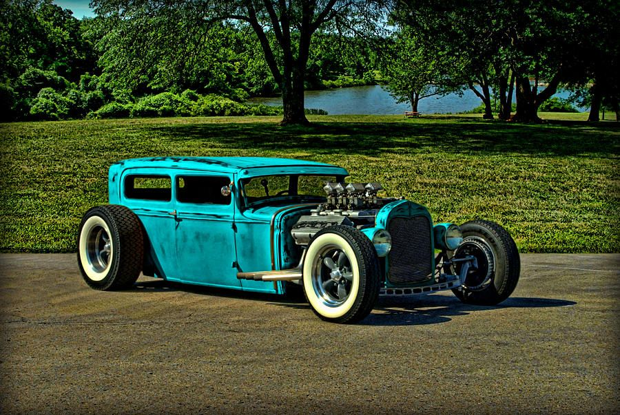 1931 Ford Model A Sedan Rat Rod Canvas Print / Canvas Art by Tim ...