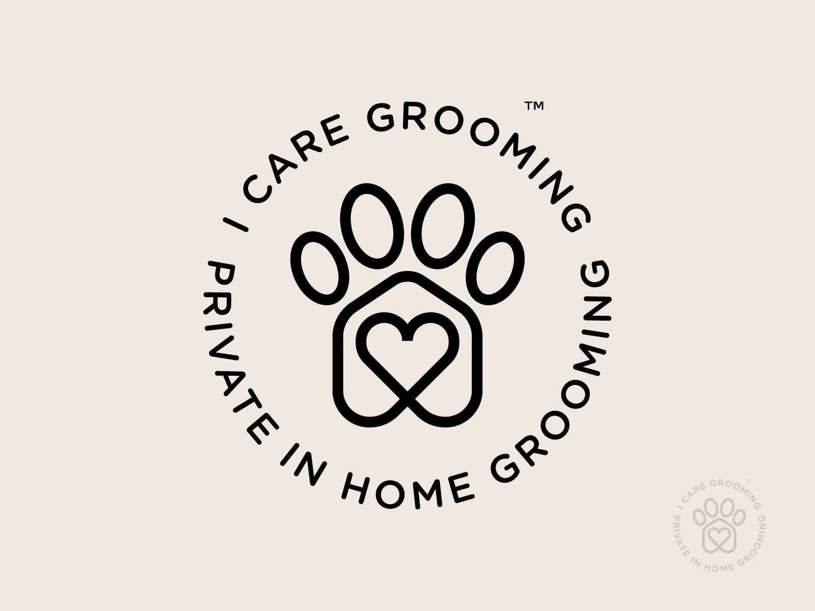 I Care Grooming Circle Badge Version In 2020 Pet Grooming