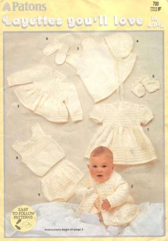 Patons 700 Layettes You ll Love | Pretty things for babies and ...