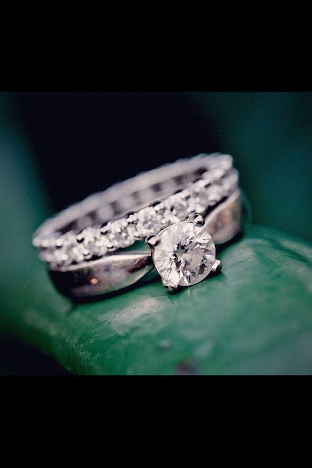 förlovning och vigselring set