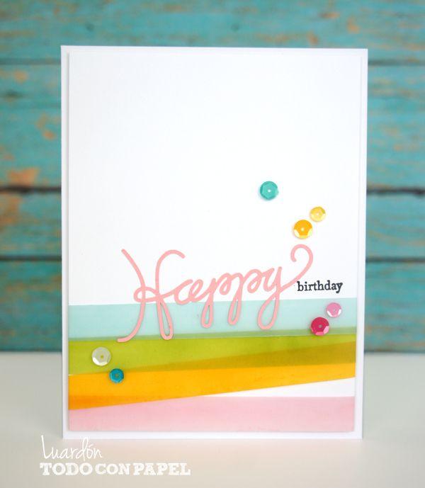 Feliz Cumpleaños (Hers) – Día #2 « Todo con Papel