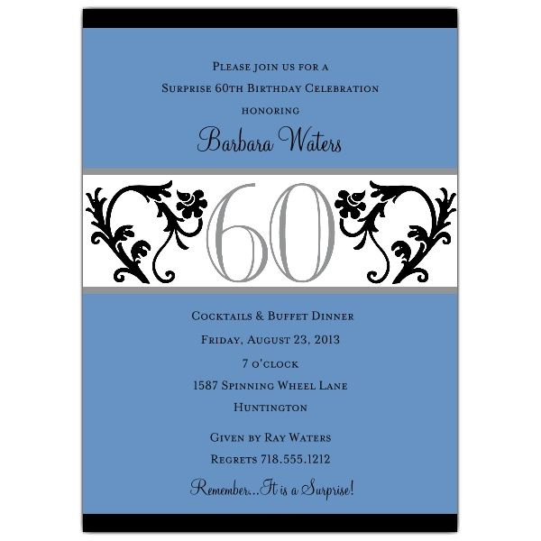 Surprise 50th Birthday Invitation Wording My Birthday Pinterest - sample invitation wording for 60th birthday