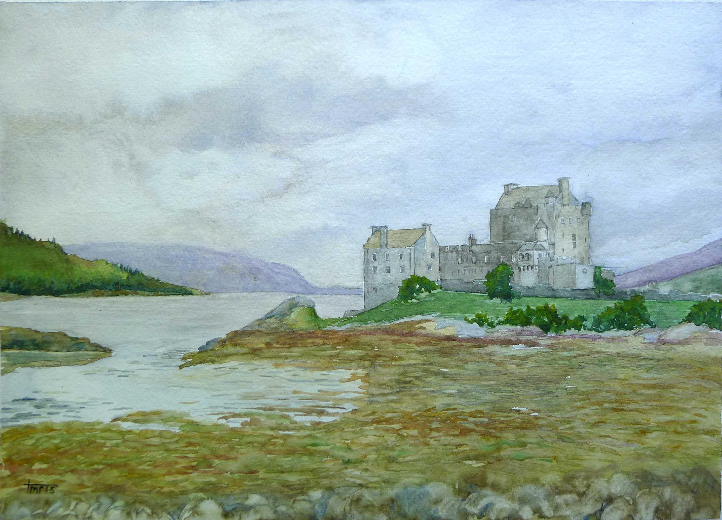 Eileen Donan Castle, Watercolour