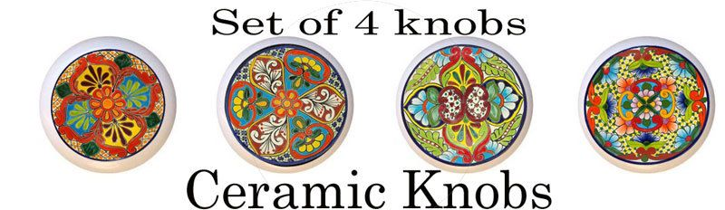Fresh Mexican Ceramic Cabinet Knobs