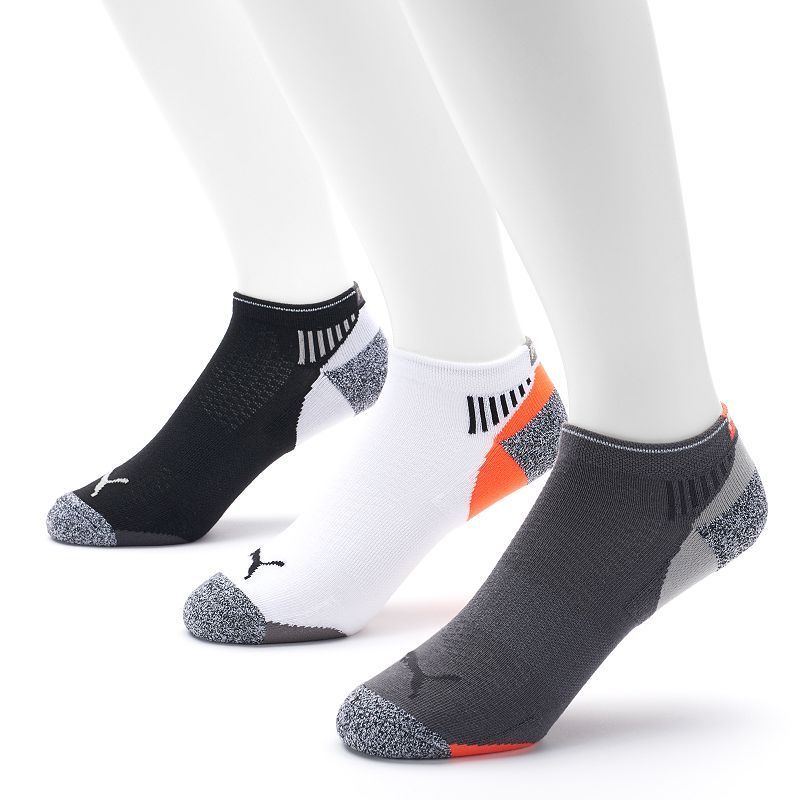 Men's PUMA 3-pack All-Sport Impact Low Cut Socks, Size: 6-12, White