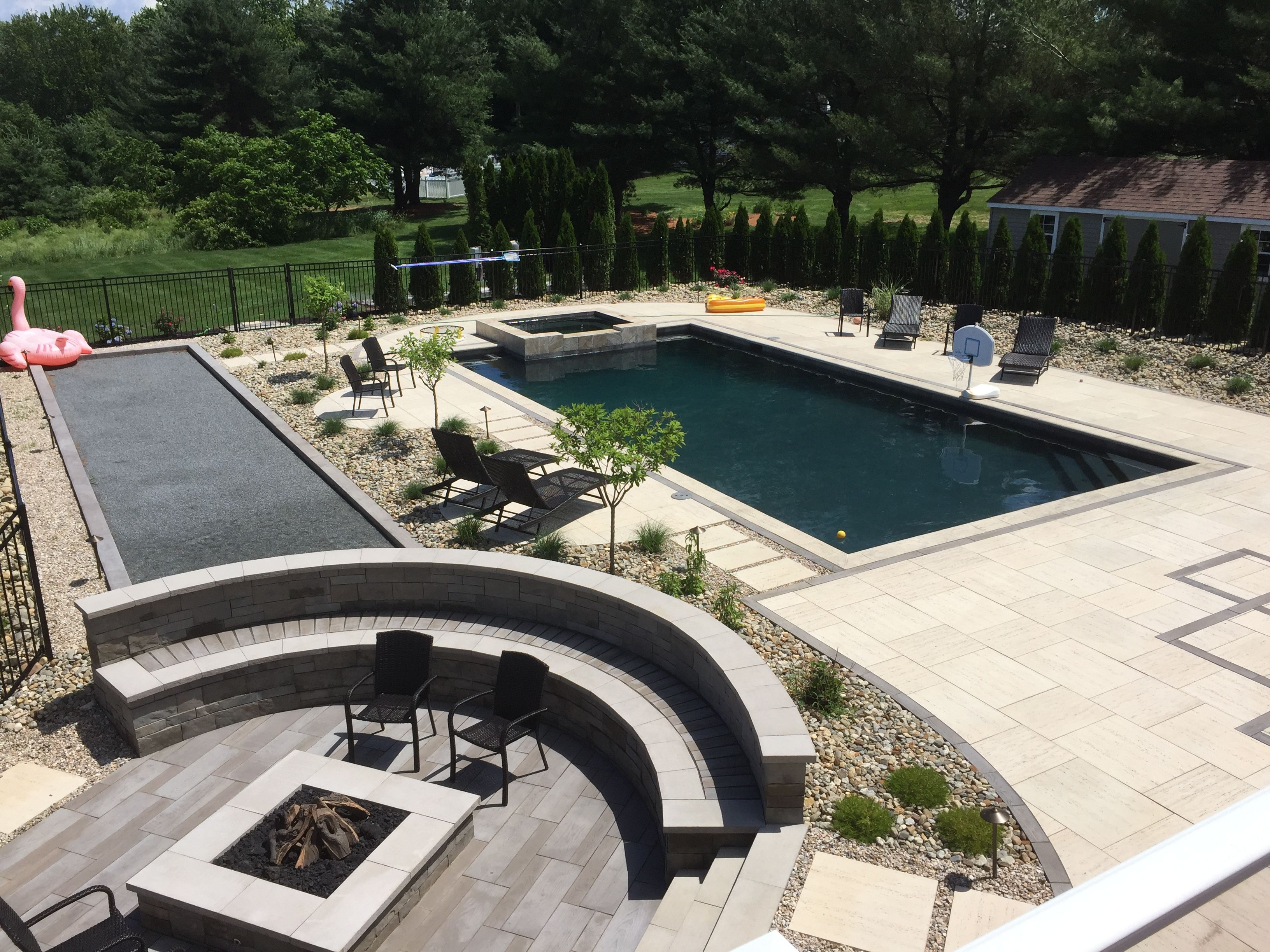 Concrete Paver Pool Patio Bahler Brothers With